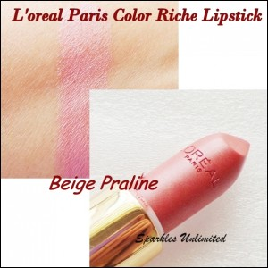 L'oreal Paris Color Riche Lipstick in Beige Praline (102)