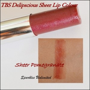 The Body Shop Delipscious Sheer Lip Colour in (09) Sheer Pomegranate