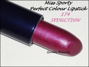 MISS SPORTY PERFECT COLOUR LIPSTICK 174 SEDUCTION