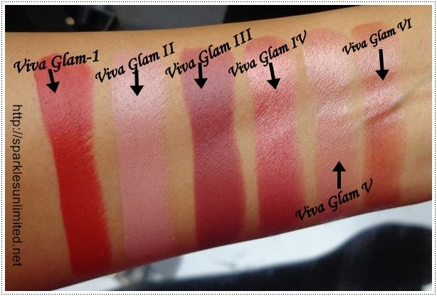 Sparkles Unlimited | Swatch Assembly: MAC Viva Glam ...