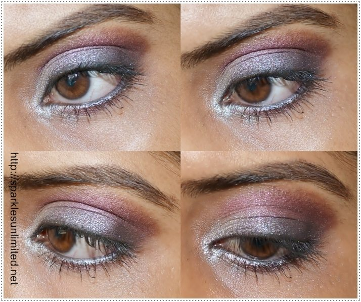 Black-Burgandy Eye Makeup Look