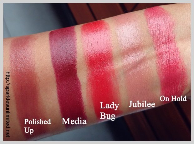 Top Sparkles Unlimited | MAC Lipstick Swatches, MAC Polished Up  WB44