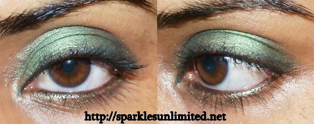 Its nice deep olive hue with superb Inglot pearl formula! If you love greens or looking for budget tag eyeshadows give it a go..