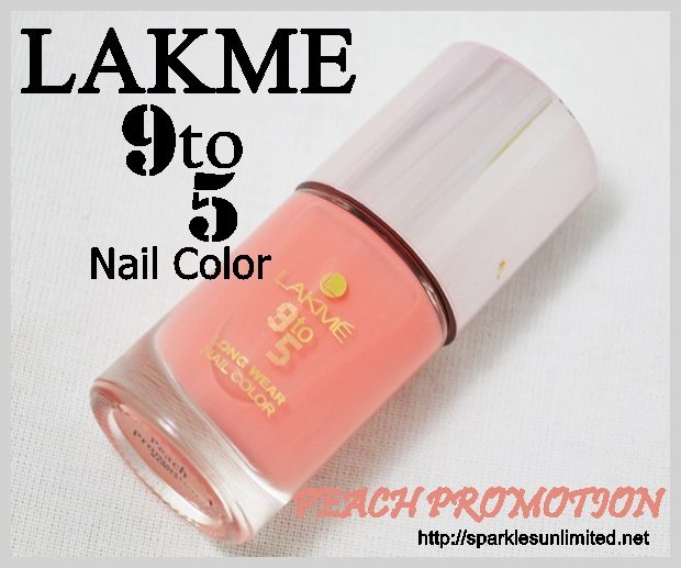 Lakme 9to5 Long Wear Nail Color PEACH PROMOTION, Lakme 9to5 Long Wear Nail Color PEACH PROMOTION Review,Lakme 9to5 Long Wear Nail Color PEACH PROMOTION Swatches, Lakme 9to5 Long Wear Nail Color , Lakme 9to5 Long Wear Nail Color Reviews,Lakme 9to5 Long Wear Nail Color Swatches, Lakme Nail Color, Lakme India