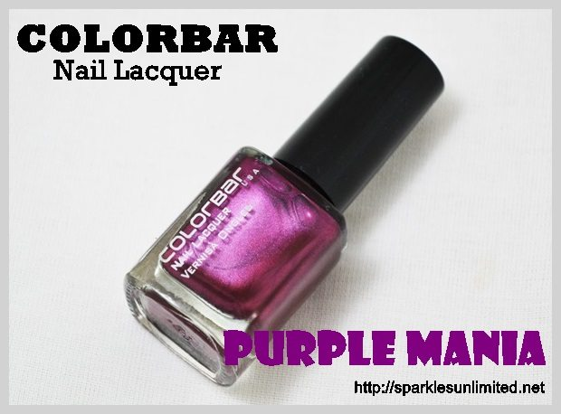 Colorbar Nail Lacquer Purple Mania, Colorbar Nail Lacquer Purple Mania Review,Colorbar Nail Lacquer Purple Mania Swatches, Colorbar Nail Lacquer , Colorbar Nail Lacquer Review,Colorbar Nail Lacquer Swatches, Colorbar Cosmetics, Colorbar Cosmetics India