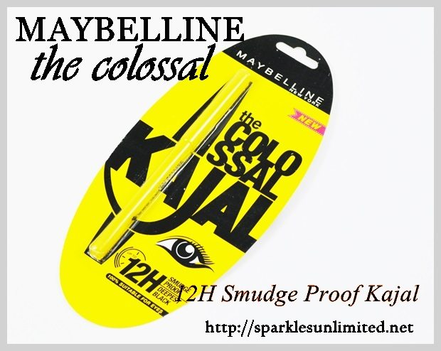 Maybelline the colossal 12H Smudge proof Kajal Review,Maybelline the colossal 12H Smudge proof Kajal , Maybelline India, Maybelline
