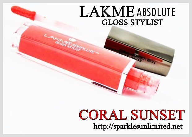 Lakme Absolute Gloss Stylist CORAL SUNSET,Lakme Absolute Gloss Stylist CORAL SUNSET Review,Lakme Absolute Gloss Stylist CORAL SUNSET Swatches,Lakme Absolute Gloss Stylist , Lakme Absolute Gloss Stylist Review,Lakme Absolute Gloss Stylist Swatches, Lakme India, Lakme Absolute India, Lakme Absolute