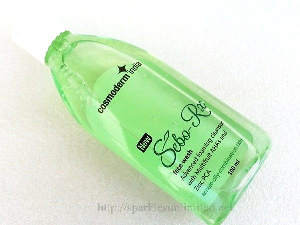 Cosmoderm India Sebo Rx Face Wash Review,Cosmoderm India Sebo Rx Face Wash