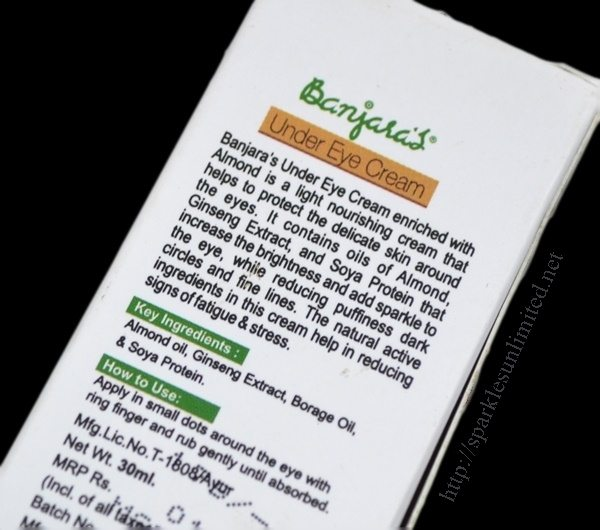 Banjaras Under Eye Cream Review,Banjaras Under Eye Cream , Banjaras, Under Eye Cream, Best Under Eye Cream for dry skin