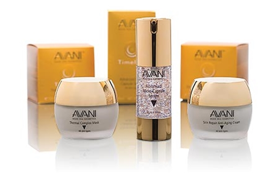 """Pamper your skin with natural Dead Sea Cosmetics   Let your skin feel the difference with an advanced & effective mineral skincare treatment, """"AVANI Dead Sea Cosmetics"""" which offers one of the oldest known Spa and Salon therapy products from the Dead Sea. AVANI brings luxury cosmetics and highly developed skincare products for flawless glowing skin, bringing together centuries old beauty care with modern science.  AVANI-Dead Sea Cosmetics was established to offer mineral skin care products that combine the nourishing and revitalising properties of Dead Sea Products with modern techniques. These products are natural and are formulated with a special combination of minerals like magnesium, calcium, potassium, bromides and sodium. These minerals help to reduce skin problems while working to maintain skin moisture balance, relax muscles and increase immunity to avoid allergies.  Indulge yourself in an alluring collection ranging from face care, body care to nail care where each product is exclusively formulated from genuine Dead Sea mud, salts, minerals and water.  The line of skincare products at Avani are 100% natural and made in Israel using original Dead Sea minerals. Each of the products is scientifically formulated with herbal extracts, natural oils and vitamins. Avani is not into custom cosmetics but are into advanced skin care products that are QUICK and EASY to use. Their dedication to quality has been recognized by customers around the world and they constantly innovate to keep ahead of their competitors in this rapidly changing industry. Avani Timeless:  The AVANI Timeless range consists of three classic skincare products specially formulated to minimize wrinkles, fine lines and sagging skin. These products are rich in moisturizing anti-oxidant ingredients which makes your skin look younger and more refreshed. The range includes AVANI Timeless Advanced Micro Capsule Serum, AVANI Timeless Skin Repair Anti-Aging Cream, AVANI Timeless Thermal Complex Mask, AVANI"""