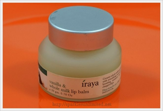 Iraya Vanilla & Whole Milk Lip Balm, Iraya Vanilla & Whole Milk Lip Balm Review, Iraya, Iraya India