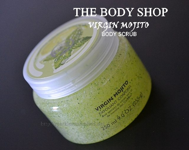 THE BODY SHOP Virgin Mojito Body Scrub,THE BODY SHOP Virgin Mojito Body Scrub Review, The Body Shop UK, The Body Shop, Body Scrub, Exfoliation, Skincare
